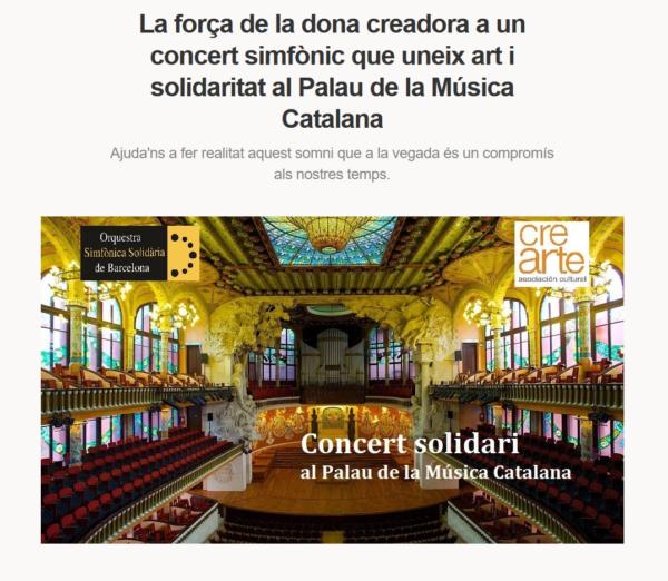 Concert Solidari al Palau